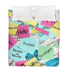 Stickies Post It List Business Duvet Cover Double Side (full/ Double Size) by Celenk
