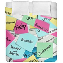 Stickies Post It List Business Duvet Cover Double Side (california King Size) by Celenk