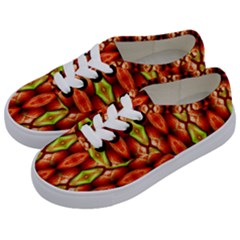 Melons Pattern Abstract Kids  Classic Low Top Sneakers by Costasonlineshop