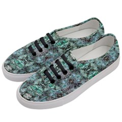 Green Black Gothic Pattern Women s Classic Low Top Sneakers by Costasonlineshop