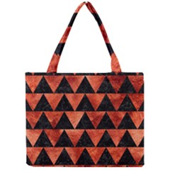 Triangle2 Black Marble & Copper Paint Mini Tote Bag by trendistuff