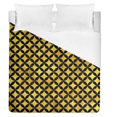 Circles3 Black Marble & Gold Paint Duvet Cover (queen Size) by trendistuff