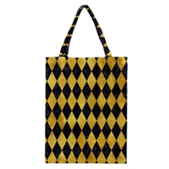 Diamond1 Black Marble & Gold Paint Classic Tote Bag by trendistuff