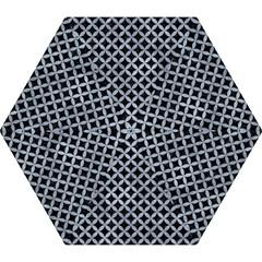 Circles3 Black Marble & Silver Paint (r) Mini Folding Umbrellas by trendistuff