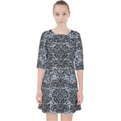 Damask2 Black Marble & Silver Paint Pocket Dress by trendistuff