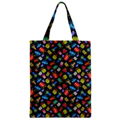 Christmas Pattern Zipper Classic Tote Bag by tarastyle
