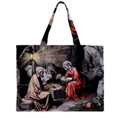 The Birth Of Christ Medium Tote Bag by Valentinaart
