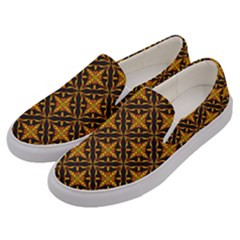 Christmas Pattern Men s Canvas Slip Ons by tarastyle