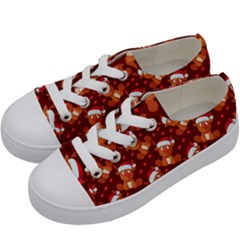 Christmas Pattern Kids  Low Top Canvas Sneakers by tarastyle
