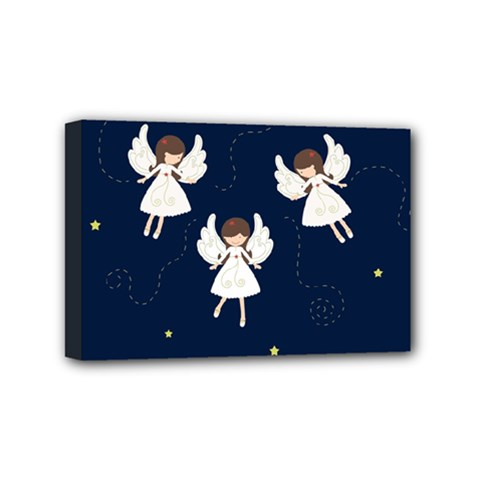Christmas Angels  Mini Canvas 6  X 4  by Valentinaart