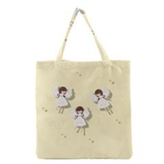 Christmas Angels  Grocery Tote Bag by Valentinaart