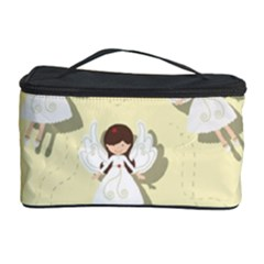 Christmas Angels  Cosmetic Storage Case by Valentinaart