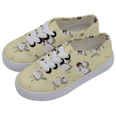 Christmas Angels  Kids  Classic Low Top Sneakers by Valentinaart