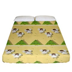 Christmas Angels  Fitted Sheet (king Size) by Valentinaart