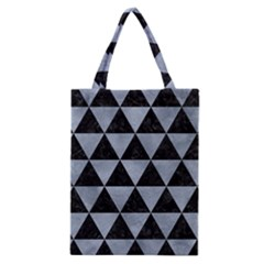 Triangle3 Black Marble & Silver Paint Classic Tote Bag by trendistuff