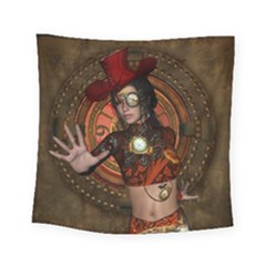 Steampunk, Wonderful Steampunk Lady Square Tapestry (small) by FantasyWorld7