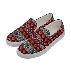 Aztec Mayan Inca Pattern 7 Women s Canvas Slip Ons by Cveti