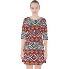 Aztec Mayan Inca Pattern 7 Pocket Dress by Cveti