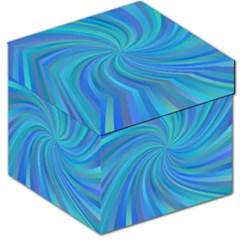 Blue Background Spiral Swirl Storage Stool 12   by Celenk