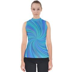 Blue Background Spiral Swirl Shell Top