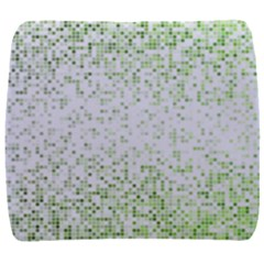 Green Square Background Color Mosaic Back Support Cushion