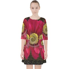 Fantasy Flower Fractal Blossom Pocket Dress by Celenk
