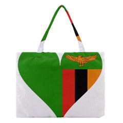 Heart Love Heart Shaped Zambia Medium Tote Bag by Celenk