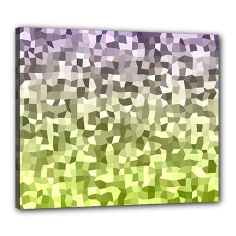 Irregular Rectangle Square Mosaic Canvas 24  X 20  by Celenk