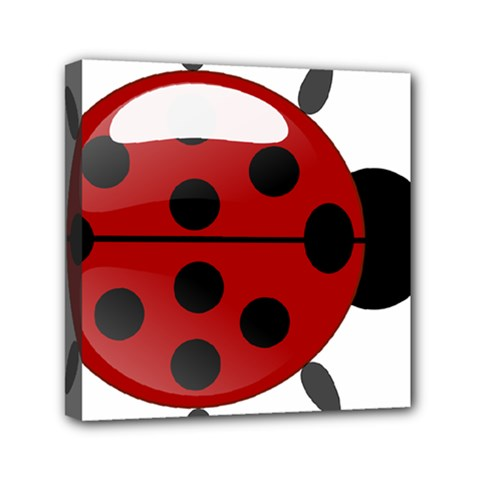 Ladybug Insects Colors Alegre Mini Canvas 6  X 6  by Celenk