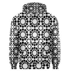 Pattern Seamless Monochrome Men s Pullover Hoodie by Celenk