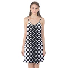 Square Diagonal Pattern Monochrome Camis Nightgown by Celenk