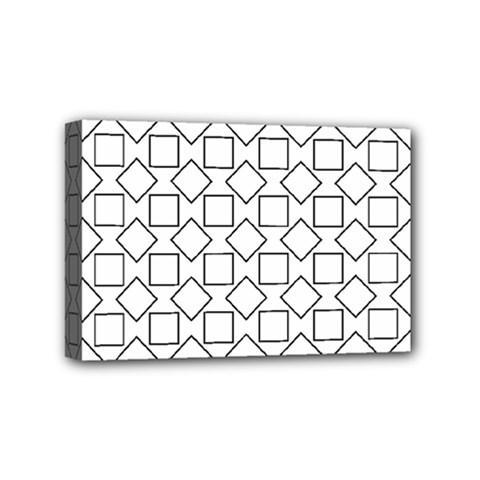 Square Line Stripe Pattern Mini Canvas 6  X 4  by Celenk