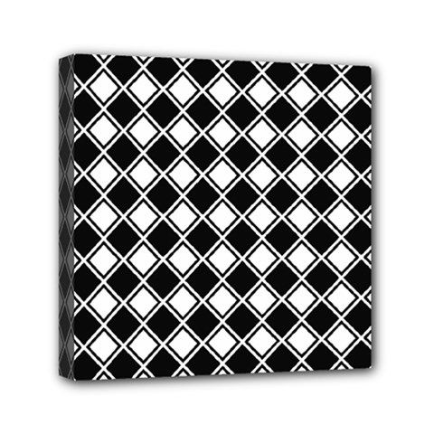 Square Diagonal Pattern Seamless Mini Canvas 6  X 6  by Celenk