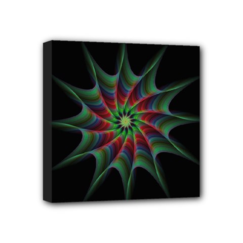 Star Abstract Burst Starburst Mini Canvas 4  X 4  by Celenk