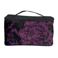 Purple Black Red Fabric Textile Cosmetic Storage Case by Celenk