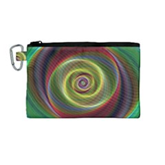 Spiral Vortex Fractal Render Swirl Canvas Cosmetic Bag (medium) (1595) by Celenk