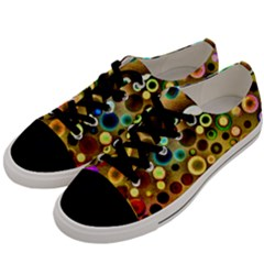 Colorful Circle Pattern Men s Low Top Canvas Sneakers by Costasonlineshop
