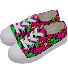 Colorful Leaves Kids  Low Top Canvas Sneakers by Costasonlineshop