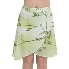 Spring Plant Nature Blue Green Chiffon Wrap by Celenk
