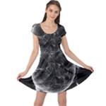 Space Universe Earth Rocket Cap Sleeve Dress