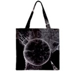 Space Universe Earth Rocket Zipper Grocery Tote Bag