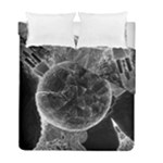 Space Universe Earth Rocket Duvet Cover Double Side (Full/ Double Size)