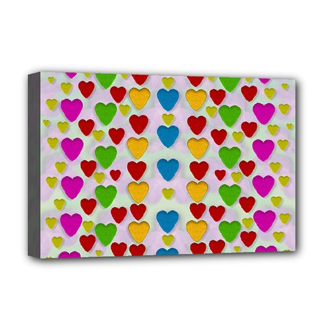 So Sweet And Hearty As Love Can Be Deluxe Canvas 18  X 12   by pepitasart