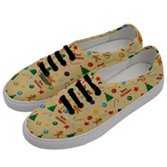 Christmas Pattern Men s Classic Low Top Sneakers by Valentinaart