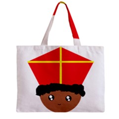 Cutieful Kids Art Funny Zwarte Piet Friend Of St  Nicholas Wearing His Miter Zipper Mini Tote Bag by yoursparklingshop
