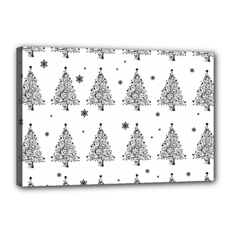 Christmas Tree   Pattern Canvas 18  X 12  by Valentinaart