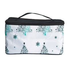 Christmas Tree   Pattern Cosmetic Storage Case by Valentinaart