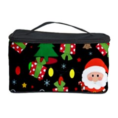 Santa And Rudolph Pattern Cosmetic Storage Case by Valentinaart