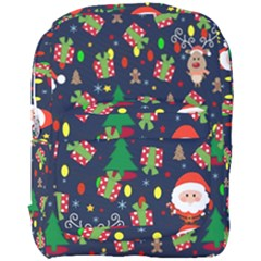 Santa And Rudolph Pattern Full Print Backpack by Valentinaart