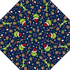 Grinch Pattern Hook Handle Umbrellas (medium) by Valentinaart